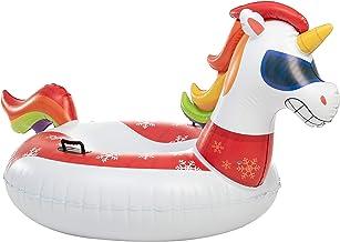 "JOYIN 47"" Inflatable Unicorn Snow Tube, Heavy-Duty Snow Tube for Sledding, Great Inflatable Snow Tubes for Winter Fun and ..."