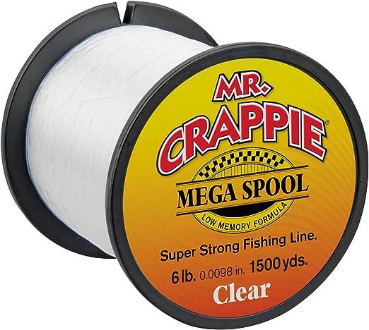 LEW/'S MR HI-VIS YELLOW CRAPPIE MEGA SPOOL SUPER STRONG FISHING LINE