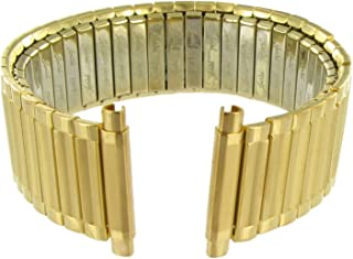 18-22mm Twist-o-Flex Gold Stainless Steel Watch Band Extra Long Measures 6.8 in