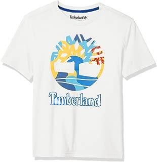 Timberland Big Boy's Short Sleeve Logo Crew Neck T-Shirt