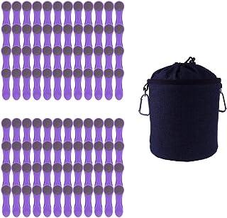 96 pinces à linge à revêtement Softgrip Softtouch et sac de rangement