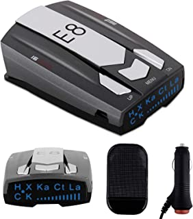 Radar Detector E8 Car Speed Laser Radar Detector with LED Display Voice Alert and Alarm System Radar Detector Kit with 360...