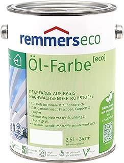 Remmers Öl-Farbe Eco Holzfarbe für Innen und Außen 2,5L, Cremeweiss Ral 9001