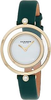ساعة اكريبوس XXIV كوارتز للنساء ، انالوج بعقارب بسوار جلدي AK1060GN