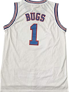 Space Jam Tune-Squad Basketball Jersey Lola#10 Bugs Bunny#1 White Stitched S 3XL
