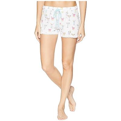 P.J. Salvage Playful Prints Shorts (White) Women