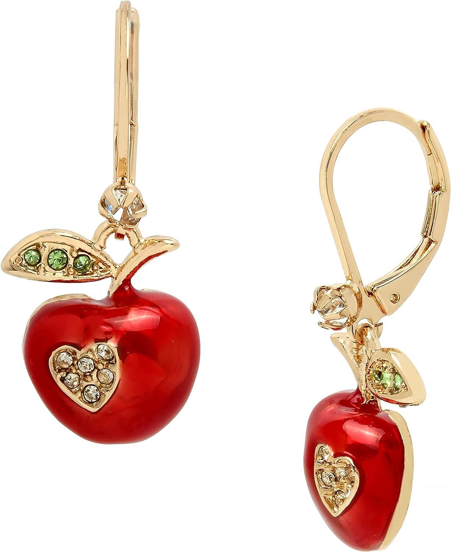 Betsey Johnson Apple Drop Earrings