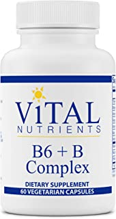 Vital Nutrients - B6 + B-Complex - Balanced B Vitamin Formula with Extra B6-60 Capsules per Bottle