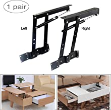 Sauton 1pair Folding Lift up Top Table Mechanism Hardware Fitting Hinge Spring Standing Desk Frame