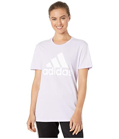 adidas Basic Badge of Sport Short Sleeve Tee (Purple Tint) Women