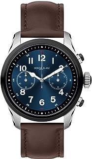 Montblanc - Reloj Montblanc Summit 2 Smartwatch 119439 Bicolor Acero y Piel marrón