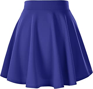 Urban CoCo Women's Basic Versatile Stretchy Flared Casual Mini Skater Skirt