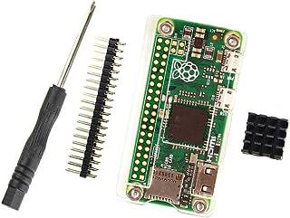 Raspberry Pi Zero W Acrylic Case, Heat Sink, Hardware & Gpio Kit - Clear