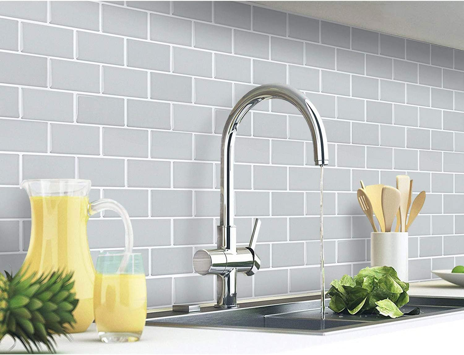 Yoillione pack of 9 9D tile stickers for bathroom kitchen ...