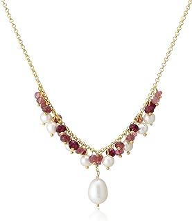 [SOPRASOLITO] SOPRASOLITO SV(金色) 淡水 珍珠 设计项链 粉色系 石榴石 粉色电气石 74619