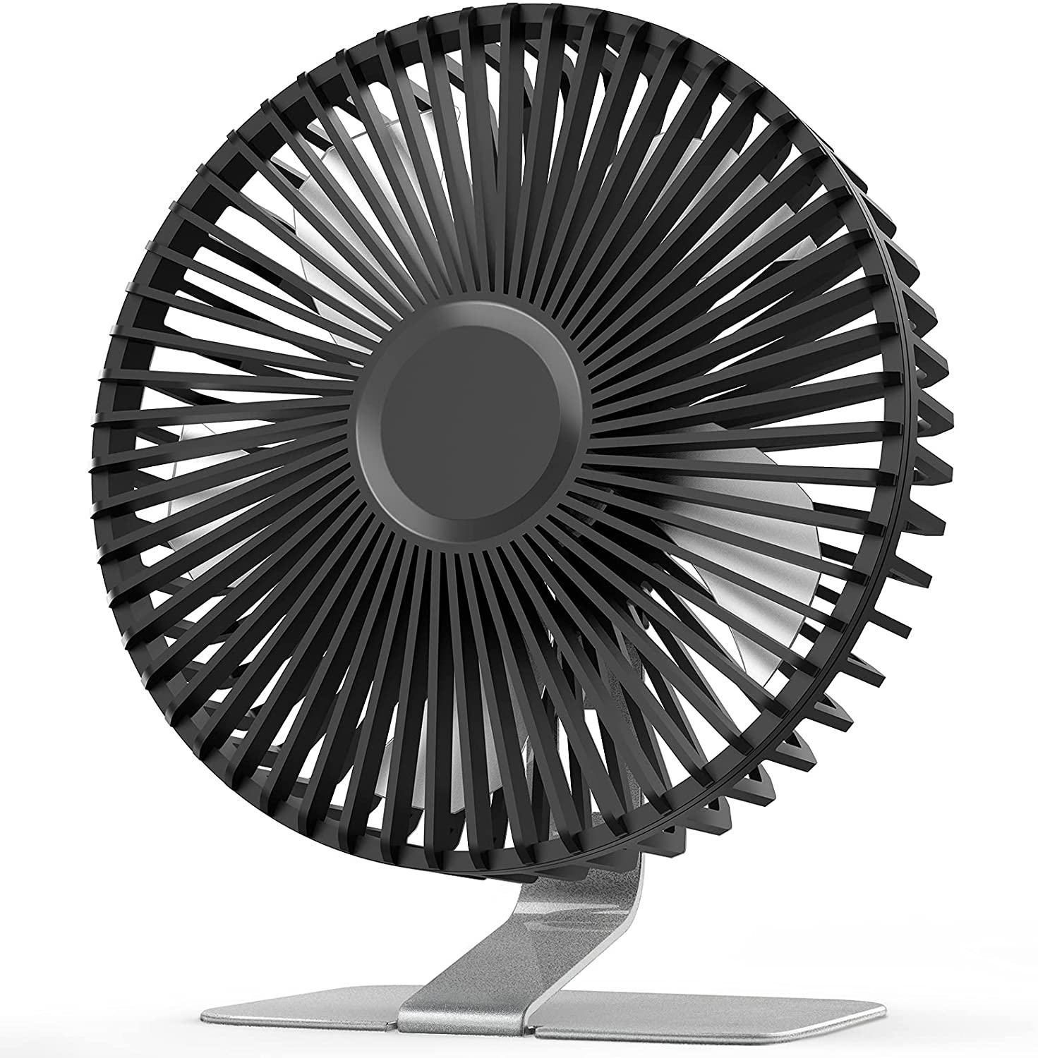 SLENPET 6 inch USB Desk Fan, Upgraded Strong Airflow, 4 Speeds, Ultra-quiet, 90° Rotation for Better Cooling, Portable Mini Powerful Desktop Fan, Small Personal Cooling Fan for Home Office Outdoor