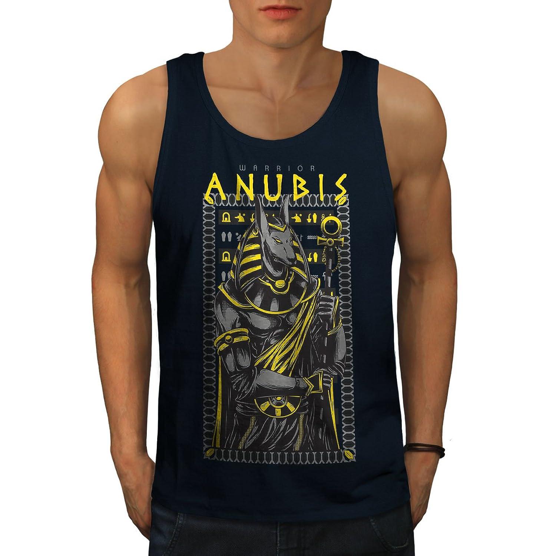 Wellcoda アヌビス 古い 神 ファッション 男性用 S-2XL タンクトップ