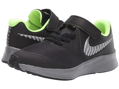 Nike Kids Star Runner 2 HZ (Little Kid) (Black/Reflect Silver/Gunsmoke) Kids Shoes