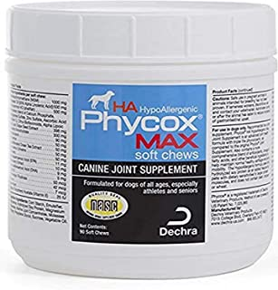 Dechra Phycox MAX Hypoallergenic (HA) Soft Chews, Joint Supplement for Dogs (90ct)