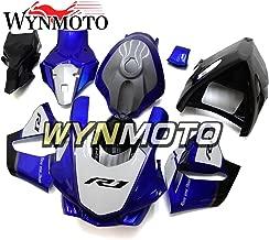 WYNMOTO Injection Fiberglass Racing Blue White Black Motorcycle Fairing Kit Cowlings For Yamaha YZF R1 2012 2013 2014 2015 New Sportbike Coat