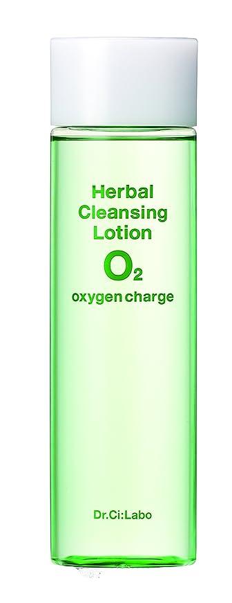 ハイブリッド思慮のない緩むドクターシーラボ ハーバルクレンジングローションO2 拭き取りタイプ化粧水 150ml メイク落とし