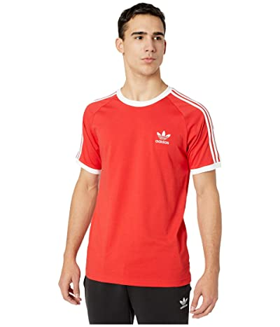 adidas Originals 3-Stripes Tee (Lush Red) Men