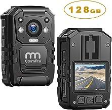 1296P HD Police Body Camera,128G Memory,CammPro Premium Portable Body Camera,Waterproof..