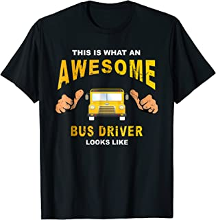 Retro Vintage 70s School Bus Driver T-Shirt Funny Cool Gift