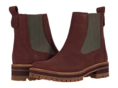 Timberland Courmayeur Valley Chelsea (Burgundy Nubuck) Women