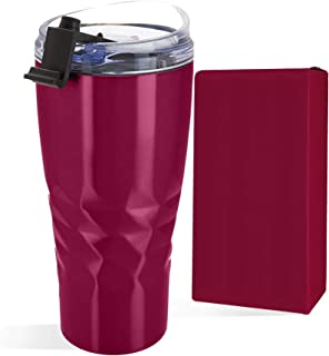 Primula Peak Hot or Cold Vacuum Sealed Triple Layer Copper Technology Tumbler with Matching Gift Box • 20 Ounce • Cranberry