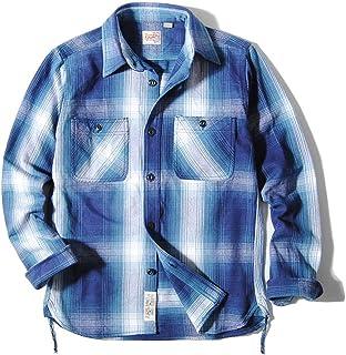 ヒューストン [HOUSTON] オンブレチェック ヘビーネルシャツ ビエラ チェックシャツ メンズ
