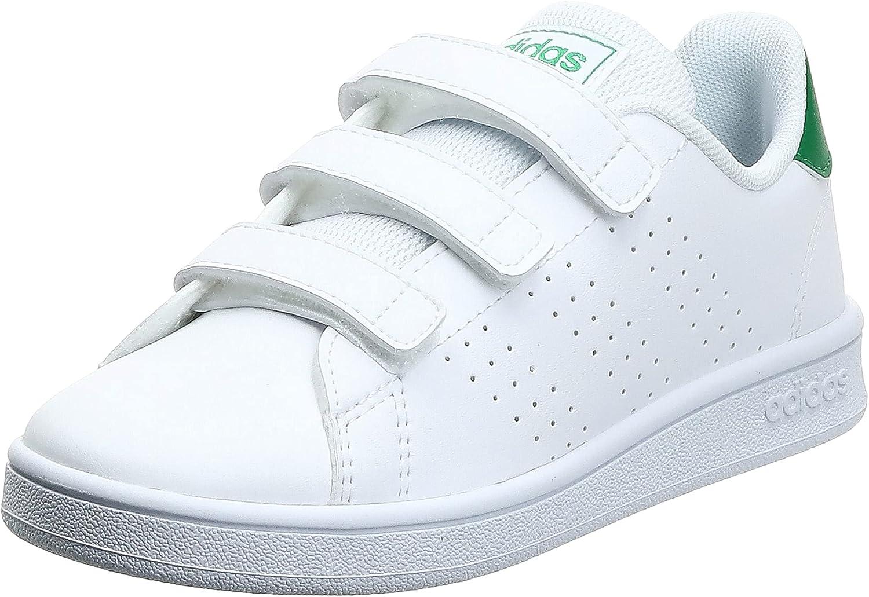 adidas Boys Shoes Running Fashion Kids Trainers School Advantage EF0223 New (34 EU - UK 2 - US 2.5)