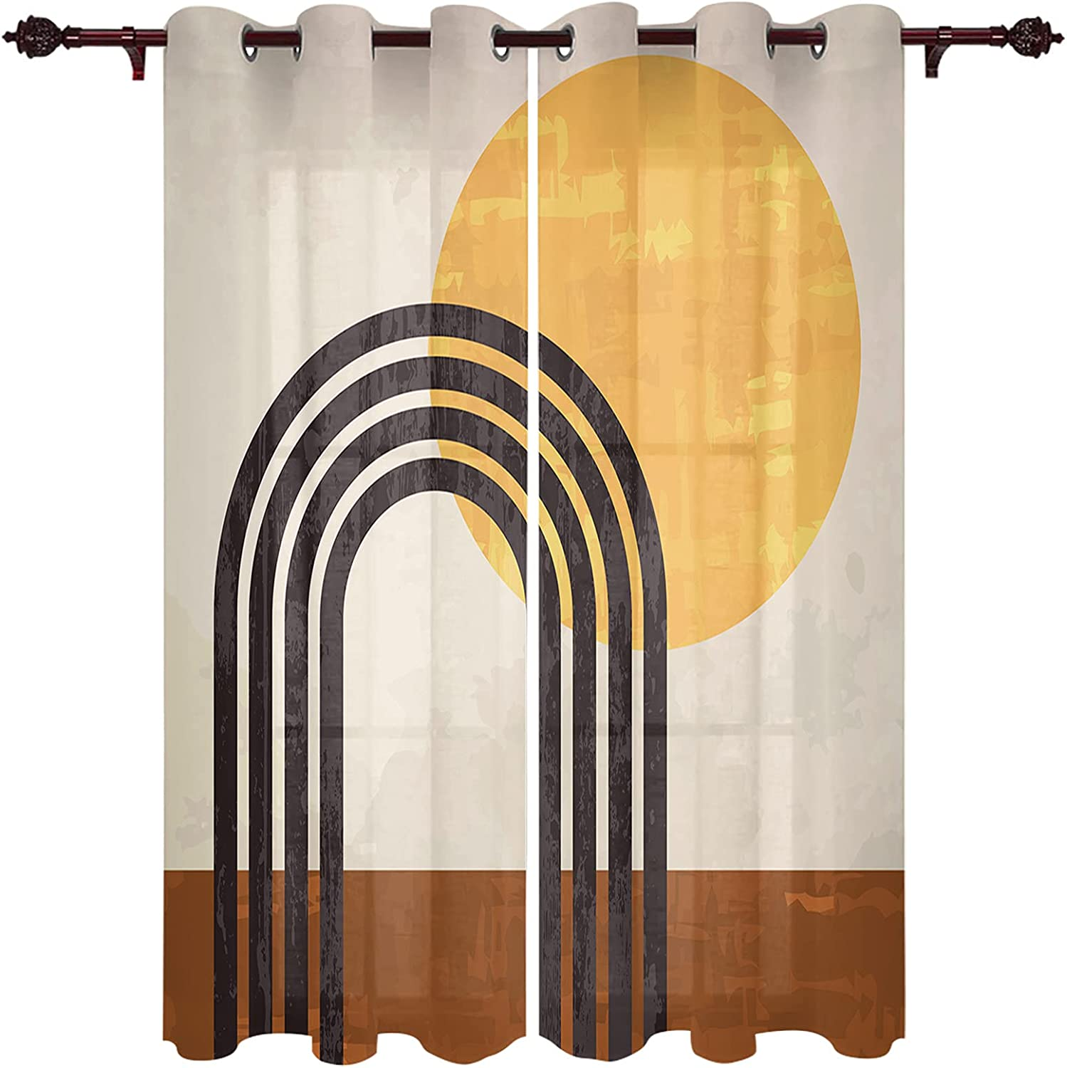 Grommet Window Curtain Aesthetic Terracotta Modern Mid All items in the store Century A Popular shop is the lowest price challenge