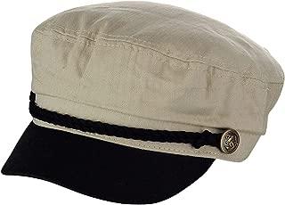 Unisex 100% Cotton Greek Fisherman Sailor Fiddler Driver Cap Hat