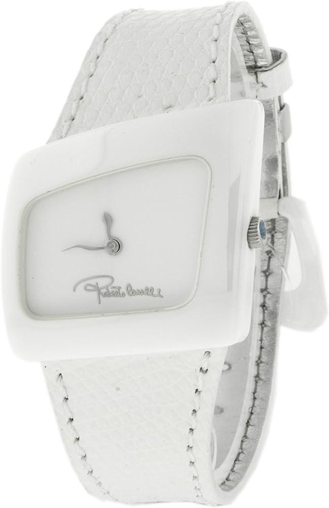 Roberto cavalli,orologio da donna , cassa in ceramica e cinturino in pelle R7251102965