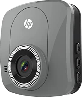 HP F230 Dash Cam, 2.0 Inch Windshield/Dashboard Full HD 1080P with G-Sensor Car DVR, Camcorder, Accident Video Recorder with 120° view angle - Silver