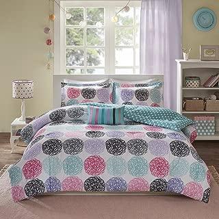 teal polka dot comforter