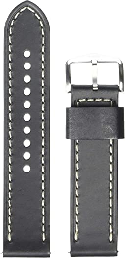 S221244 Silver Black Leather