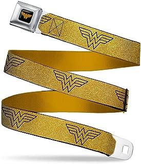 Buckle-Down Seatbelt Belt - Wonder Woman Logo Metallic Gold/Black - 1.5