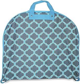 Ever Moda Morrocan Hanging Garment Bag (Teal Blue)