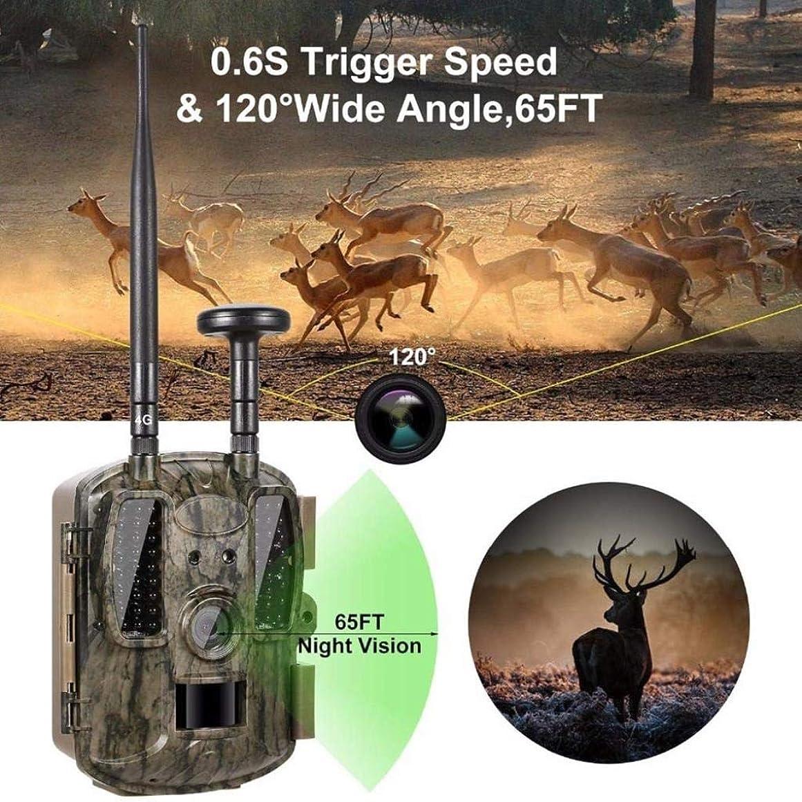 傑出したマークされた冒険者アウトドア 4ギガバイト野生生物カメラトラップ12MP(1200万HD)1080P野生の捕獲カム赤外線モーション活性化ナイトビジョンIP66防水用屋外フィールドホームセキュリティ監視