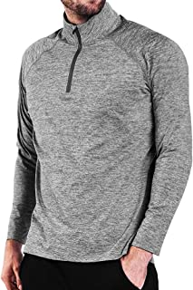Ogeenier Men's 1/4 Zip Pullover Fleece Long Sleeve Running Athletic Shirts Thermal Sports Workout Gym Tops