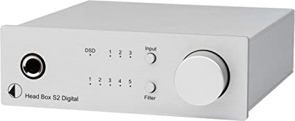 Pro Ject Head Box S2 Digital Micro High End Headphone Amplifier Head Box S2 Digital Silver Mp3 Hifi