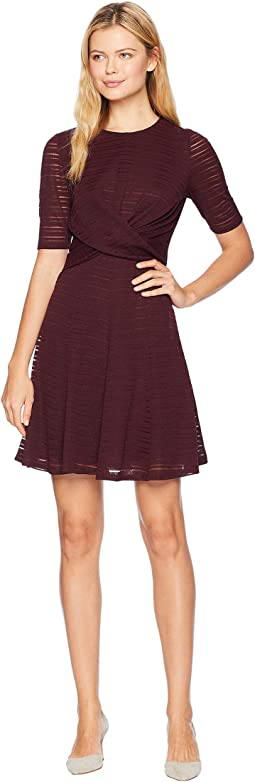 Waist Wrape Fit & Flare Dress