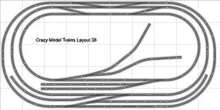 Train Layout #038 Bachmann HO EZ Track Nickel Silver - 5' X 10' - Train Set