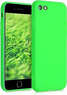 kwmobile telefoonhoesje compatibel met Apple iPhone 7/8 / SE (2020) - Hoesje voor smartphone - Back cover in neon groen