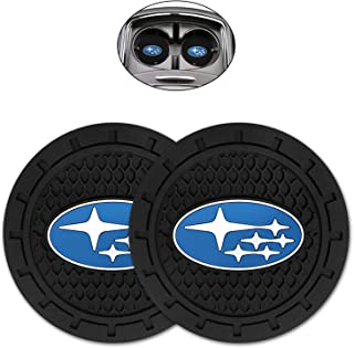 Kacichi Car Interior Accessories for Subaru Cup Holder Insert Coaster - Silicone Anti Slip Cup Mat for Subaru Forester Out...