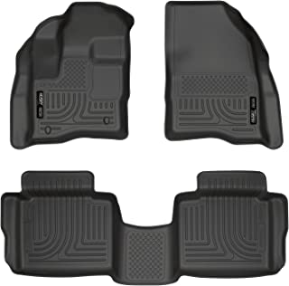 Husky Liners 98701 Black Weatherbeater Front & 2nd Seat Floor Liners Fits 2010-19 Ford Taurus