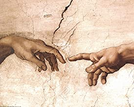 EuroGraphics The Creation of Adam (Detail) by Michelangelo Renaissance Religious Poster 16x20