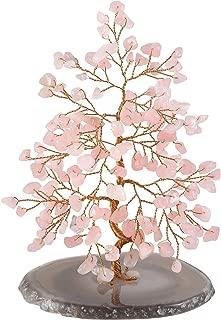 Jovivi Natural Pink Crystal Rose Quartz Money Tree Tumbled Gemstones 5.5